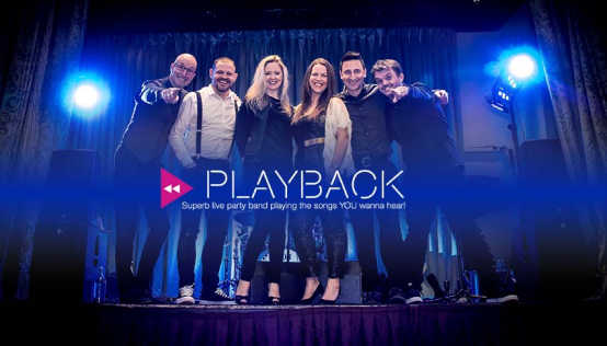 Playback - Superb Live Party Band - 6 Piece Band inc Sax