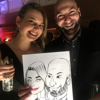 Live pen ink caricatures