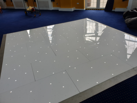 White Starlit Twinkling Dance Floor
