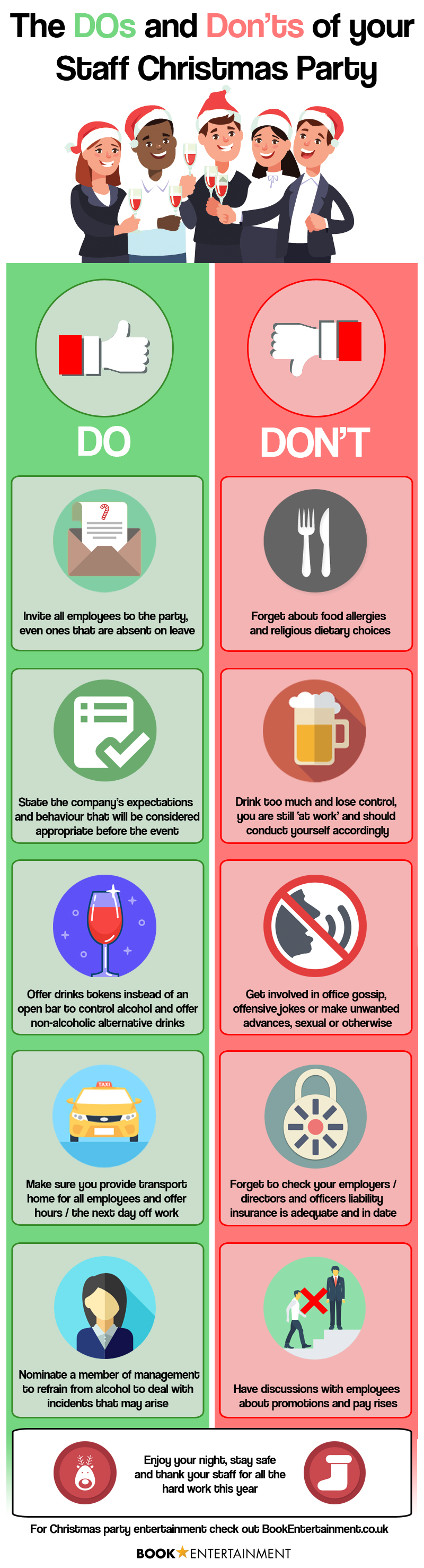 The Dos and Don'ts of your Staff Christmas Party Infographic