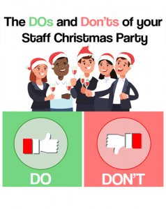 Dos and Don'ts of your Staff Christmas Party Infographic
