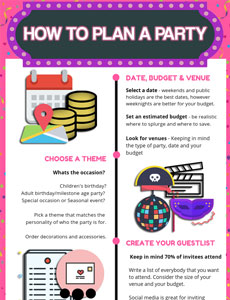 how to plan a party infographic