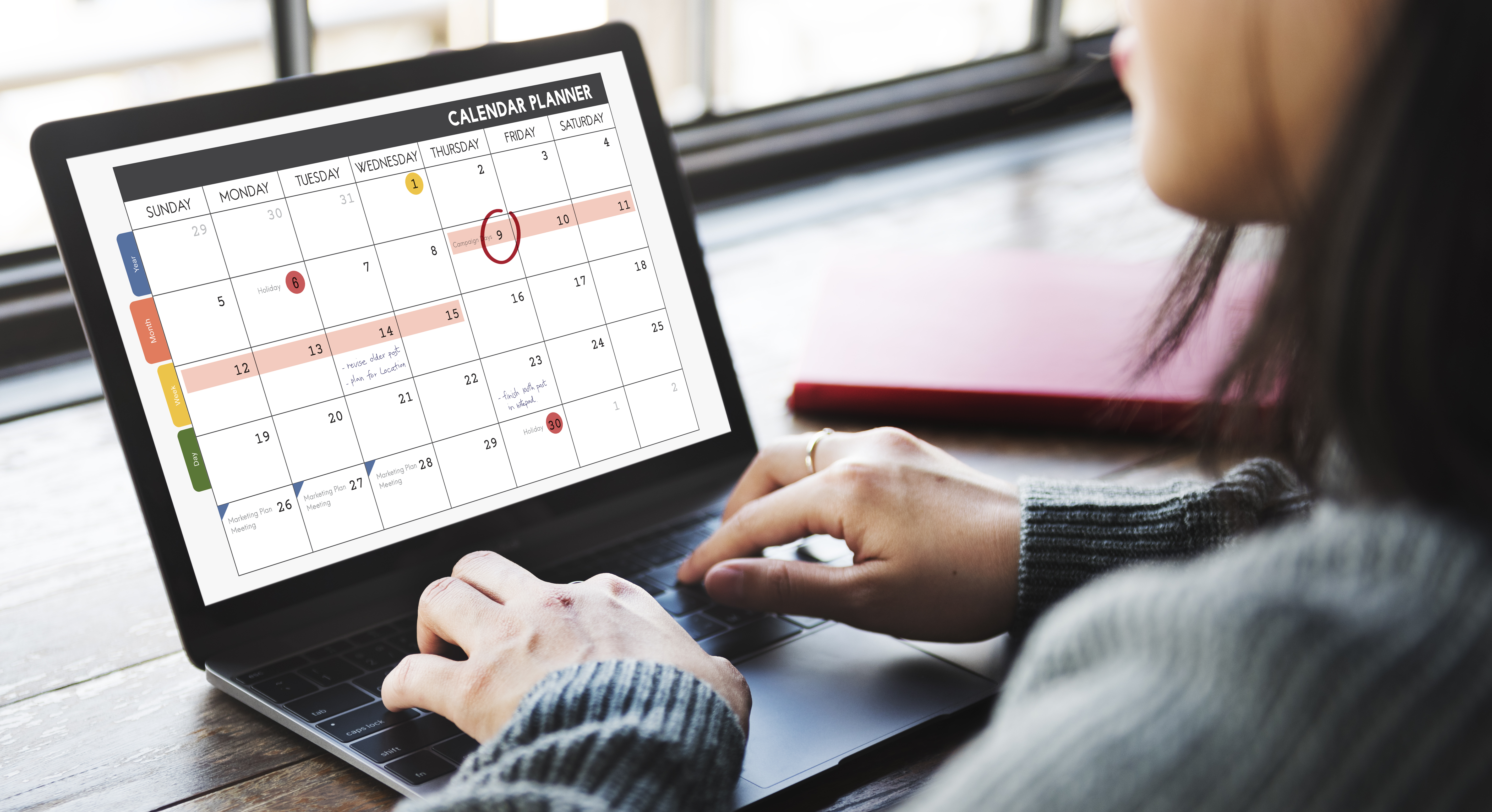 use an online calendar for your gig diary